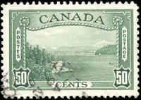 1938 Used Canada F-VF Scott #244 50c Pictorial Issue Stamp