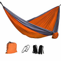 Portable Camping Double Parachute Hammock Hanging Bed Outdoor Sleeping Swing New