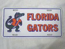 Ncaa College License Plate (Florida Gators, White/Orange) New