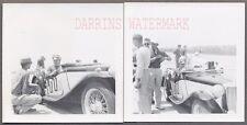 Vintage Photos Men w/ MG TC Racing Sports Car 697435