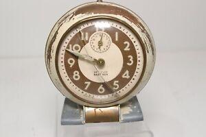Vintage Westclox Baby Ben Art Deco Alarm Clock 61-R For Parts Repair
