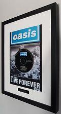 Oasis-Live Forever Framed Original CD-Ltd Edition-Certificate-Noel Gallagher
