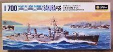 Fujimi 1/700 Sakura Japanese Navy Destroyer  *Vintage* Plastic Model Kit