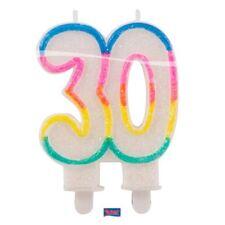 Bougie anniversaire chiffre 30 ans adulte fete TRENTE gateau decoration age DECO