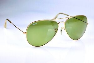 Vintage 1980's B&L Ray Ban Aviator II, RB-3 Green 62mm Lens, L2849 Sunglasses