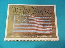 1976 BICENTENNIAL CALENDAR WE THE PEOPLE GREAT LITHOS EACH MONTH
