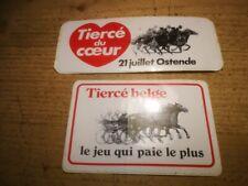 R6*  2x retro sticker Tiercé Belge 21 juillet Ostende horse racing paard tierce