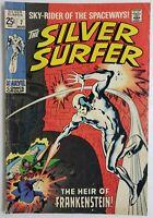 🔥 SILVER SURFER #7 1969 HEIR OF FRANKENSTEIN SILVER AGE FANTASTIC FOUR VOL 1