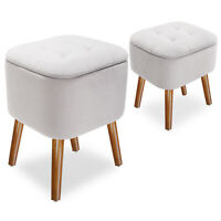 Ottoman Storage Bar Stools, Ride-on Footrest Stool With Storage for Kids Adults
