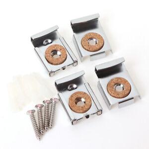 4PCS/Set Easy Install Square Bathroom Durable Mirror Clips Adjustable Bedroo&qi