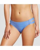 Mossimo Modern Double Strap Hipster Swim Bikini Bottom Size XL Blue NEW A1P