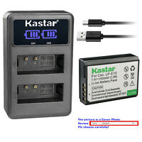 Kastar Battery LCD Dual USB Charger for Canon LP-E10 LPE10 & Canon EOS 1300D