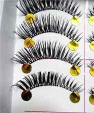 10Pairs Long Cross False Eyelashes Handmade Makeup Natural Fake Thick Eye Lashes