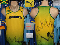 Jersey Shirt Vest Sleeveless Jamaica Puma Athletic Running Training Rastaman