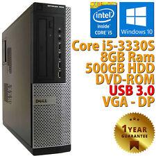 PC COMPUTER RICONDIZIONATO DELL 7010 DT CORE i5-3330S RAM 8GB HDD 500GB WIN 10