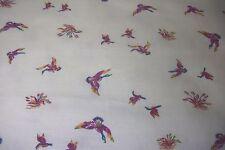 "cotton/poly sweatshirt fleece fabric 2 3/4 yds x58"" white w/multicolor ducks"