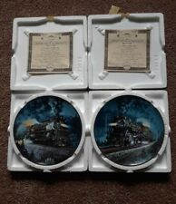 2 Knowles 1993 Porcelain China Railroad/Trains Collector Plates By R.E. Pierce