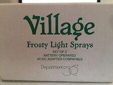 Department 56 Village Color Changing Frosty Light Sprays #52682