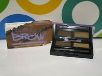 URBAN DECAY ~ DOUBLE DOWN BROW TWO SHADES + TOOLS ~ CAFE KITTY / WARM MED BROWN