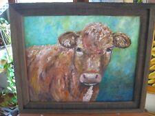 """Original Cow Painting-""""Mr. Riley's Cow"""" 16x20 oil, Artz-D"""