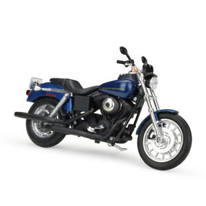 Maisto 1:12 Harley Davidson 2004 Dyna Super Glide Sport Motorcycle Bike Blue