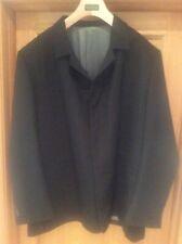 "Men's 52"" 52R Tom English Contemporaries Stretch Comfort Black Wool Jacket Coat"