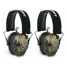 Walker's Razor Slim Shooter Ear Protection Muffs with Nrr of 23dB, Camo (2 Pack)