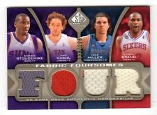 GASOL,STOUDEMIRE,MILLER,BRAND NBA 2009-10 SP GAME USED FABRIC FOURSOMES 125