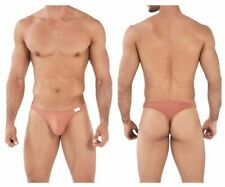 Clever Men's Turn Thong Underwear 0370 in Choice of Ochre or Green Nylon Spandex