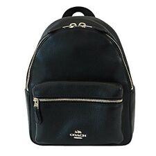 NWT COACH Mini CHARLIE Backpack Leather Shoulder Bag Black School Black F28995