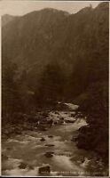 Snowdonia Wales England ~1920/30 Aberglaslyn Pass Schlucht Landschaft Natur Wald