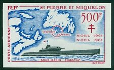ST PIERRE : 1962. Scott #C25 Ships. Imperf. Very Scarce. Very Fine, Mint NH.