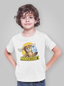 MOOSECRAFT T Shirt XBOX PS4 GAMER Fans Tshirt - Youtube fans Birthday Gift Top
