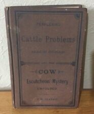 J.W. Clarke-Cattle Problems/Cow Escutcheon Mystery 30 Orig Essays -1880 1st Ed