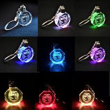 KPOP BTS Bangtan Boys Jungkook Jimin Jin Rap Monster V LED Crystal Keychain Gift