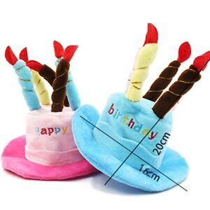 Dog Cat Birthday Hat Cap With Candles Accessories Costume Headwear Pet Supplies