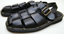 MENS COLE HAAN COUNTRY BLACK LEATHER FISHERMAN SANDALS SHOES SZ 10 M 10M