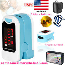 Finger Pulse Oximeter Heart Rate SPO2 Monitor Blood Oxygen Meter Sensor Portable