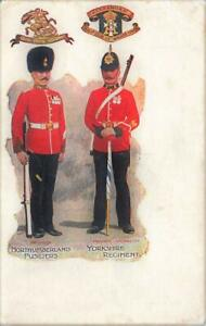 Early SOLDIER'S PAY Northumberland Fusiliers & Yorkshire Regiment   Postcard