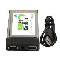 PCMCIA CardBus to 2 Ports USB 2.0 Adapter PCMCIA-USB Converter Card