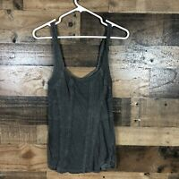 Free People Womens Gray Tank Top Large