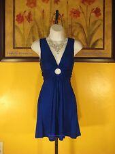 NWT  Arden B. Sea Blue O-Ring Halter Dress Size XS