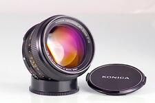 KONICA HEXANON AR 1.2 57mm AMAZING DREAM LENS NEAR MINT PORTRAIT KING OF BOKEH