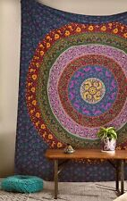 King or California king size Cotton mandala tapestry hippie bed sheet bed cover