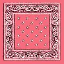 XL Rosa Motivo Cachemira extragrande 68.6cmcotton Big Bandana Bufanda Pañuelo de