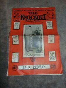 "JUNE 6, 1931 ""THE KNOCKOUT"" BOXING MAGAZINE/NEWSPAPER JACK DEMPSEY & JACK REDMAN"