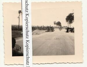 Foto Panzersperre im Vorfeld der Maginotlinie 2 Wk WW2 !