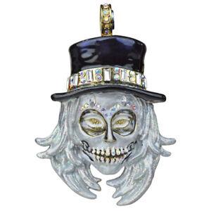 Kirks Folly All Souls Diamond Skull Magnetic Enhancer goldtone Halloween