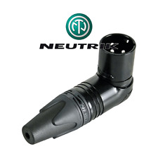 Fiche XLR Mâle Noire 3 Broches Coudé 90° Contacts Argentés Neutrik NC3MRX Bag