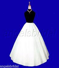 A-line Semi Full Hoopless Bridal Wedding Gown Crinoline Petticoat Skirt Slip